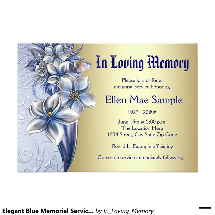 52 best Funeral Invitations Announcements images on Pinterest - memorial service invitation template