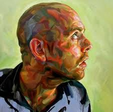 Paul Wright. Bald head = so good to paint, really gives structure and from to a head. Also more room to paint flesh!