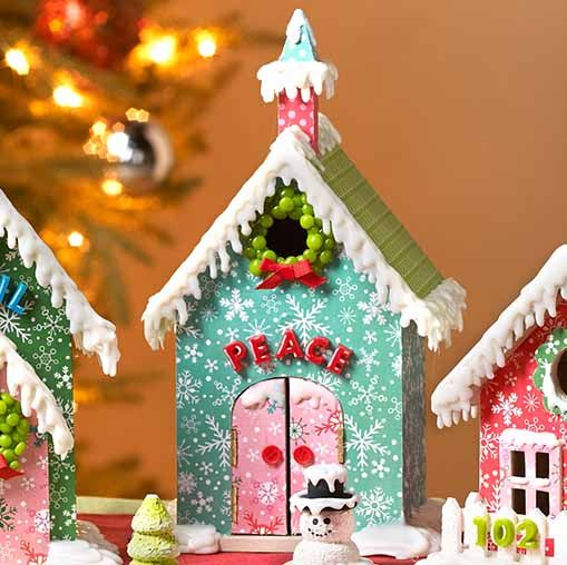252 best diy christmas decorations images on pinterest christmas decoupage diy christmas village mantelpiece solutioingenieria Gallery
