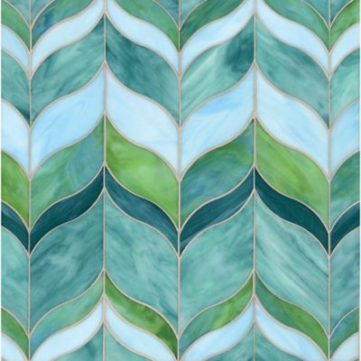 Marilyn Small Mosaic In Amazonite Tsavorite Turquoise And Chrysoberyl Tile Designs We