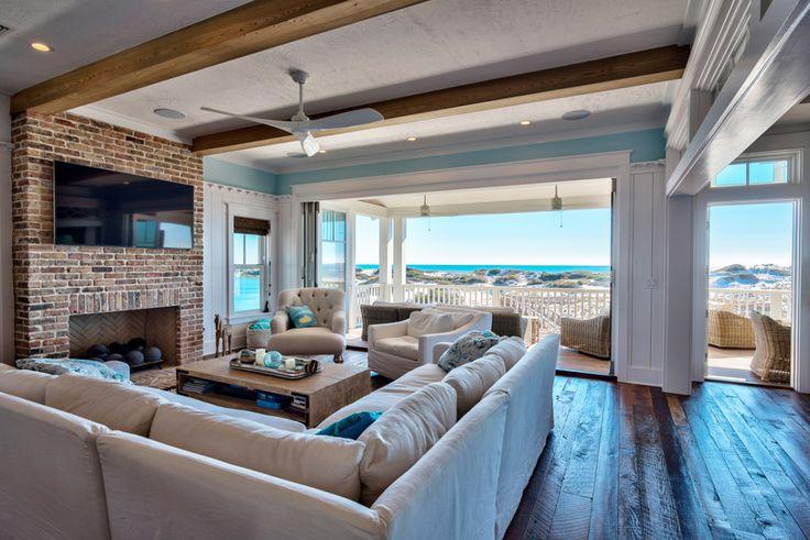 dreamy beach house family room