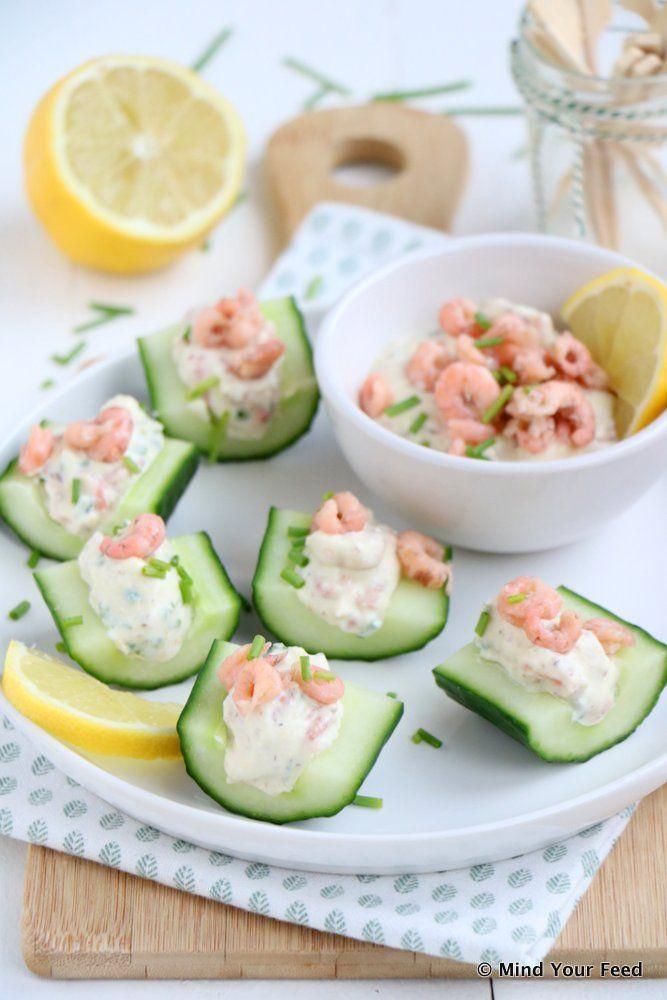 Hollandse garnalensalade met komkommer - Mind Your Feed