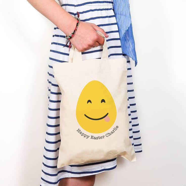 Personalised Easter Emoji Bag @notonthehighst