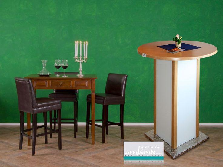 Für eine behagliche Wärme im Sitzbereich sorgen die infrarot Heiztische. Ein Infrarot Bistrotisch mit 4-seitiger Wärmestrahlung ist nicht nur ideal für die Gastronomie, sondern auch auf dem Balkon und der Terrasse, im Wintergarten und in Büros.
