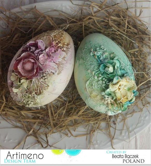 Blog sklepu Artimeno: Wielkanocne jajka w technice mix media.