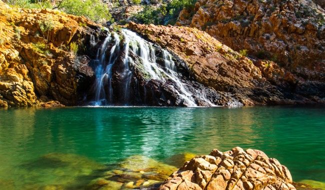 A cool swim in the Crocodile Creek is part of the National Geographic Orion tour of the Kimberley