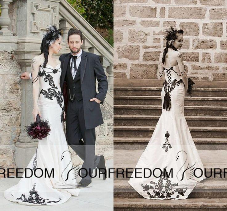 """Ideen zu """"Schwarze Hochzeitskleider auf Pinterest  Hochzeitskleider ..."""