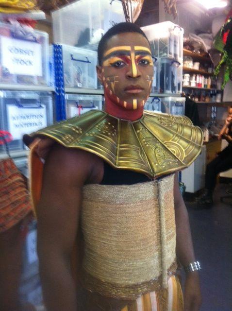 "Bueka: King Mufasa costume fitting for Bueka ""Disney Lion King"" Lyceum theatre, London West End."