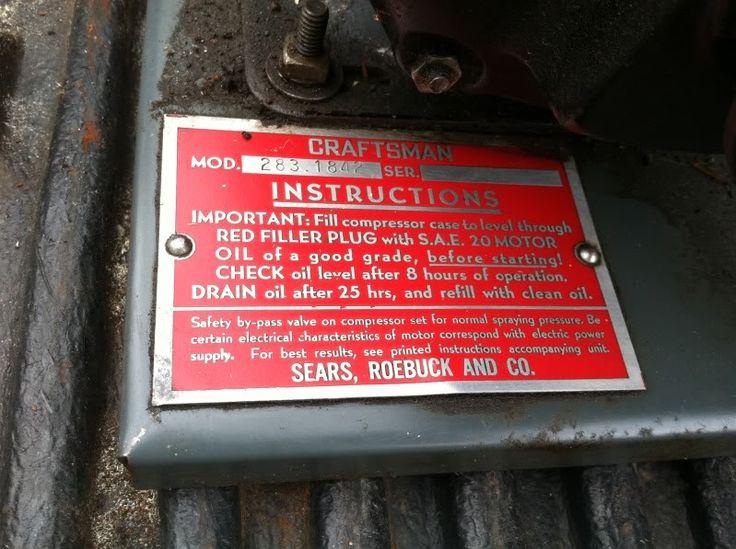 craftsman air compressor Mod.283.1842