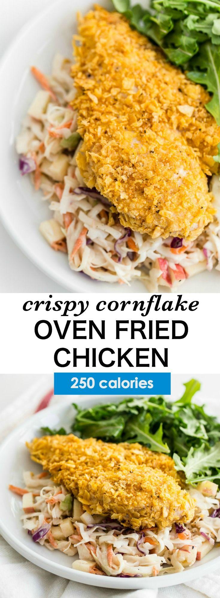 Oven Fried Crispy Cornflake Chicken Recipe — Dishmaps