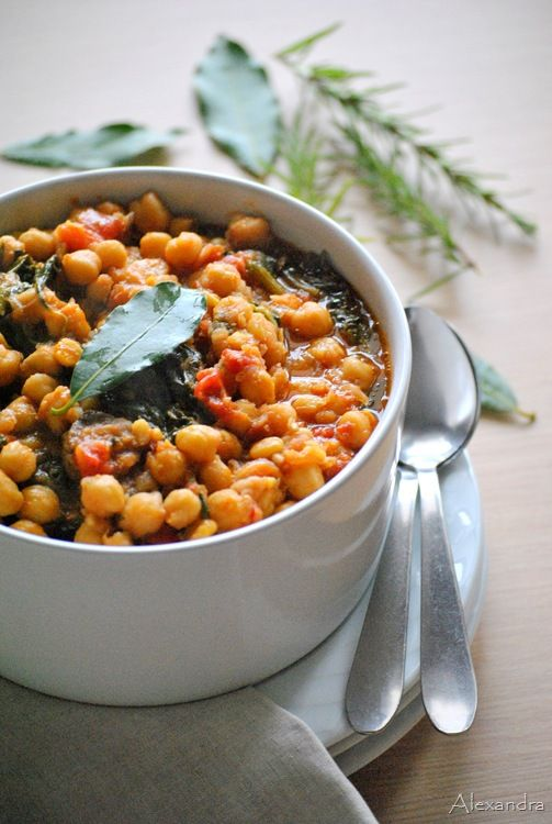 Chickpeas with Sausage and Spinach