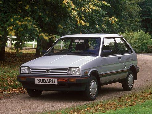 Subaru Justy 3-door (1984 – 1988).