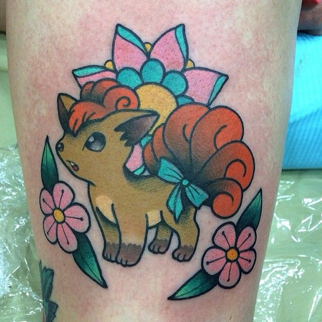 #Pokemon #Vulpix #baltimoretattooconvention