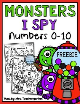 This freebie includes 11 I Spy practice pages for numbers 0-10. Students will find and color or dab the numbers. This is a fun way for students to practice their number identification.