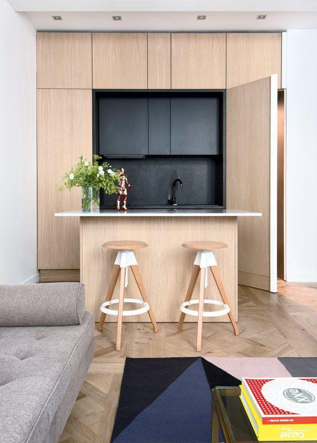 Une cuisine parfaitement intégrée dans le salon