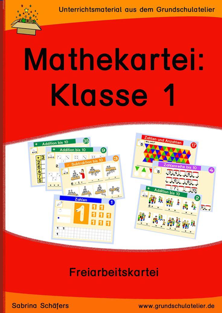 288 Karteikarten für den Mathematikunterricht der ersten Klasse: Addition, Subtraktion, Orientierung im Zahlenraum bis 20, Zahlzerlegungen, Textaufgaben, etc.  150 Seiten, pdf- Format, Klasse 1