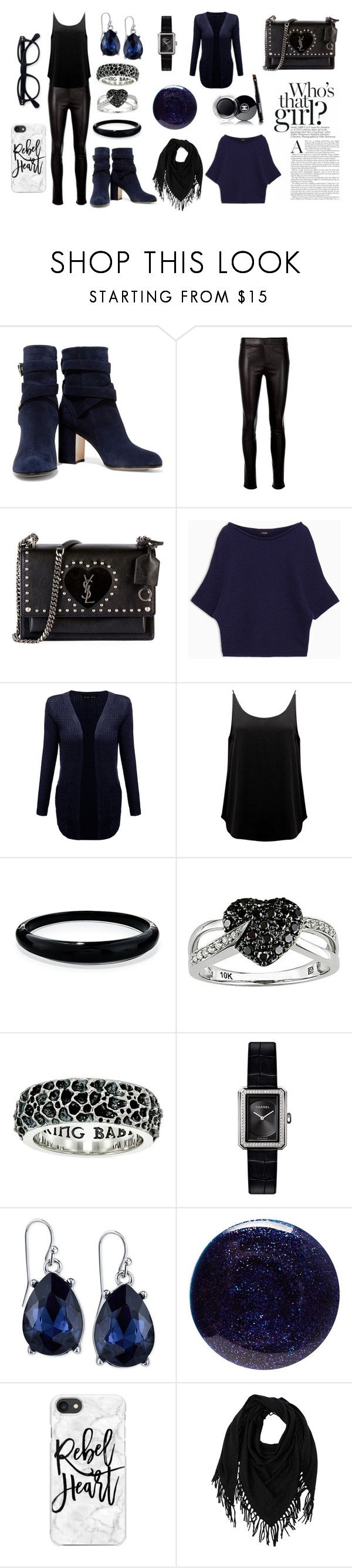 """""""glam rock"""" by celine-diaz-1 on Polyvore featuring mode, Gianvito Rossi, Helmut Lang, Yves Saint Laurent, Max&Co., BA&SH, Alexis Bittar, Ice, King Baby Studio et Chanel"""
