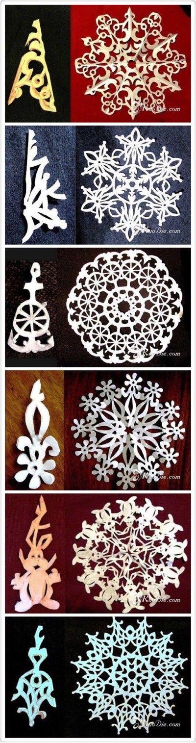 Christmas DIY handmade paper-cut snowflakes illustration Each pattern has beauty to burst