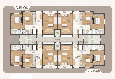 Image result for apartman mimari plan