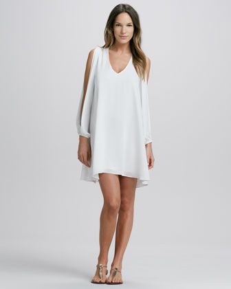 Slit-Sleeve Dress  $150