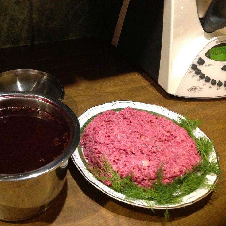 """Przepis Barszcz czerwony +surówka,""""2 potrawy z jednej"""" przez Danuta Baska - Widok przepisu Zupy"""