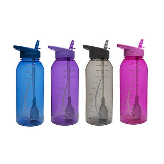 $10.99  Our biggest thirst-quencher yet! The Milestone is a full 1 liter (34oz) bottle with measurement markings that make it easy to track your intake. If you're a hiker, athlete, or adventurer of any kind, this bottle is your ideal partner.  . Our largest bottle, the 1 liter Milestone bottle can keep up with your active lifestyle. Keep hydrated with fresh, clean water and order yours online today!
