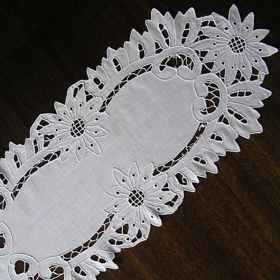 Vintage cutwork embroidery 1970s doily Handmade by MyWealth, $4.30