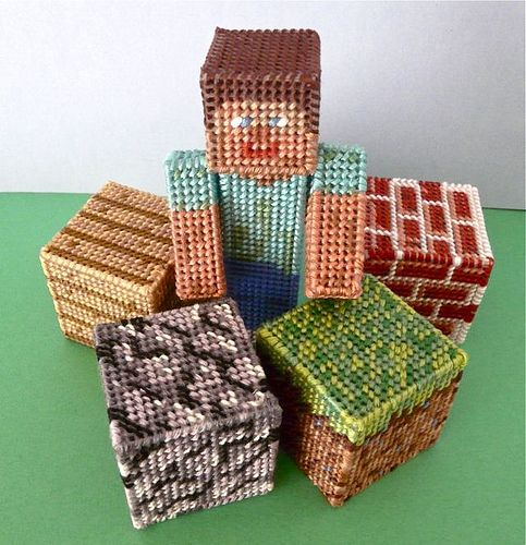 Plastic Canvas Minecraft by CraftyPod, via Flickr
