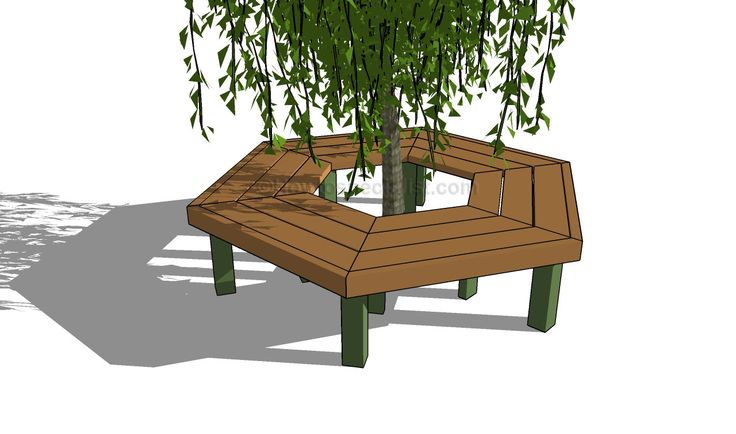 How To Build A Tree Bench Bench Pinterest Tree Bench Bench And Backyard