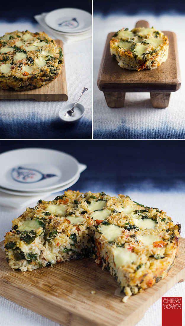 Pastel de risotto de atún