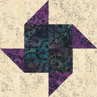 Sew a batch of Paper Pinwheels quilt blocks.