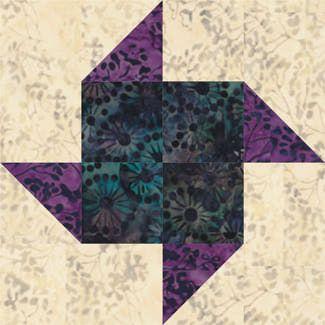 Sew a batch of Paper Pinwheels quilt blocks.