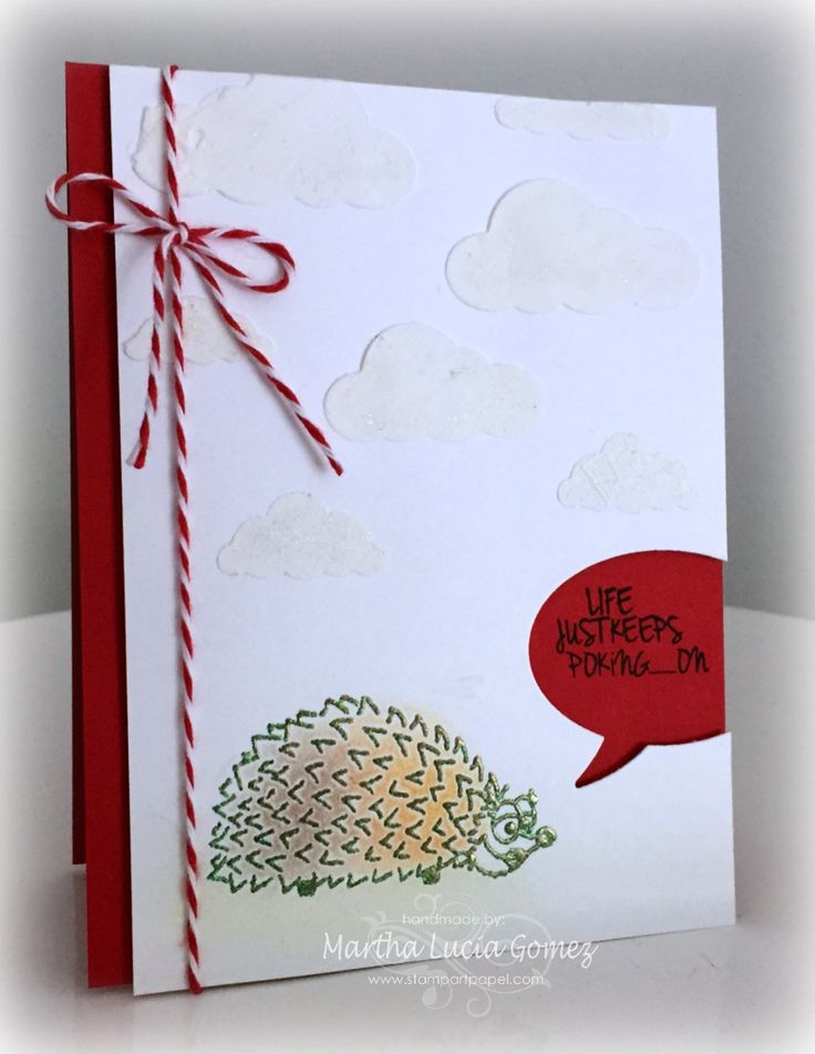 When life pokes on...make a card with a hedgehog!