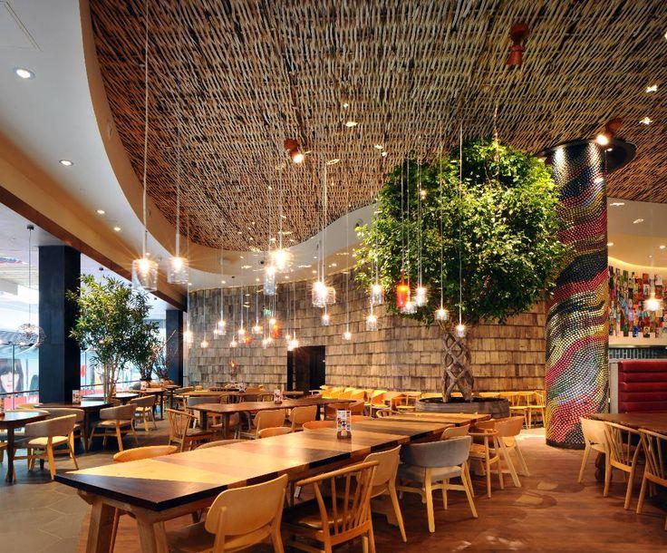 the light corporation portfolio restaurant bar designrestaurant - Beaded Inset Restaurant Decoration