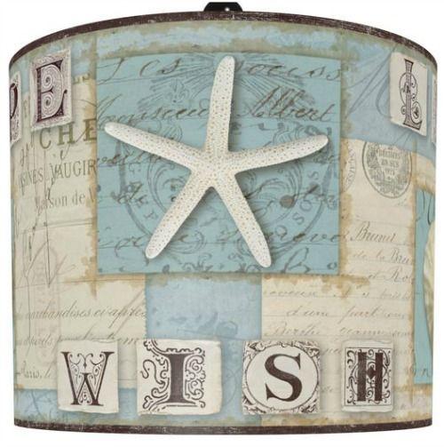 Beach Lampshade with Words: http://www.completely-coastal.com/2016/04/coastal-beach-nautical-lamp-shades.html