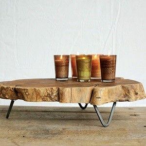 Raw Edged Wood Slab Tray | Wooden Tray With Feet