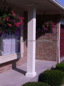 Fiberglass columns concrete porch and columns on pinterest for Fiberglass square columns