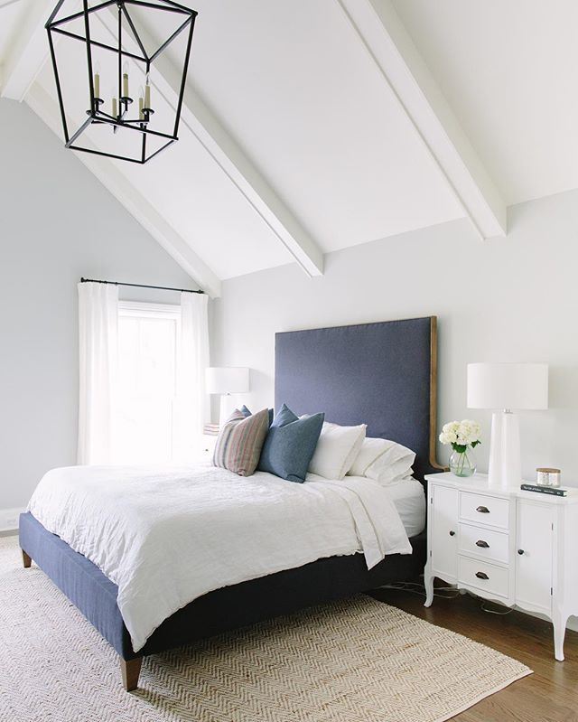 Navy U0026 White Makes You Sleep Just Right! #bedroom #navy #white