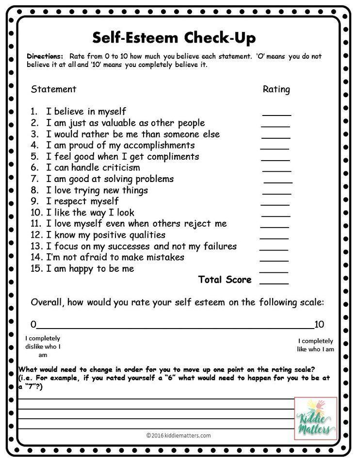 Self Esteem Worksheets In 2020 Self Esteem Activities Self Esteem Worksheets Counseling Lessons Free self esteem worksheets