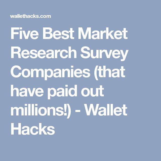 Five Best Market Research Survey Companies (that have paid out millions!) - Wallet Hacks