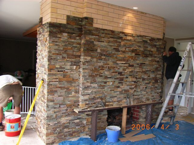 Hgtv Indoor Stone Veneer | Stacked Slate Fireplace