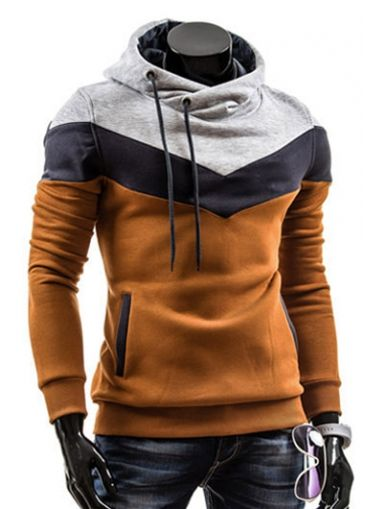 Trendy Long Sleeve Hooded Collar Mens Sweats for Autumn - USD $20.09