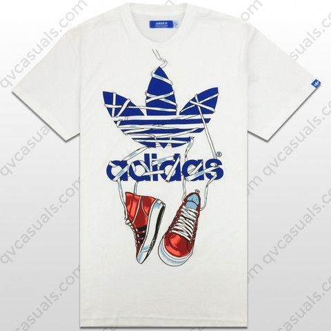 adidas Originals Mens G Trefoil Sneak Tee X34428 at QV casuals. Big range of adidas Originals t shirts.