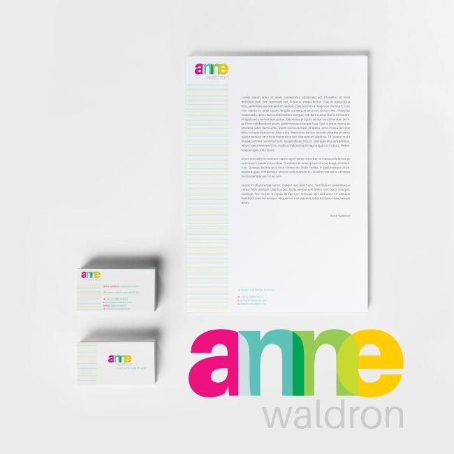 #Stationery Set Designed for Anne Waldron - #Branding #print #identitydesign #logodesign