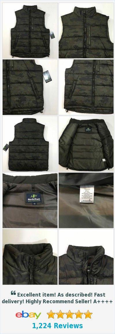 Nordic Track Camouflage Camo Men's Puffer Vest 100% Polyester Size Medium  | eBay http://www.ebay.com/itm/Nordic-Track-Camouflage-Camo-Mens-Puffer-Vest-100-Polyester-Size-Medium-/201794360244