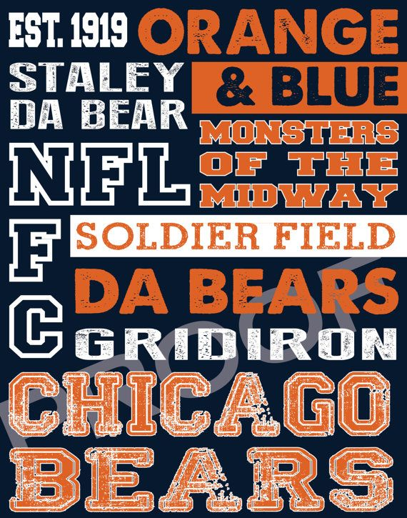 Chicago+Bears+Subway+Art+by+515DesignStudio+on+Etsy,+$20.00