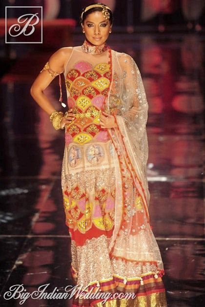 Rina Dhaka multi-coloured Indian ethnic wear