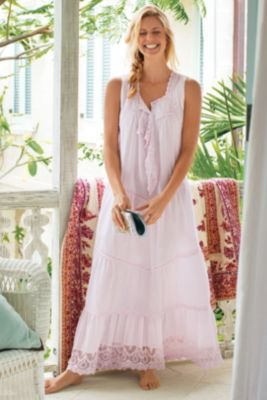 Gretchen Gown - Ankle Length Nightgown, Long Lace Nightgown, Nightgown With Pockets  | Soft Surroundings