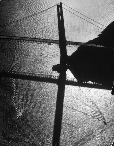 The Golden Gate Bridge in 1950.