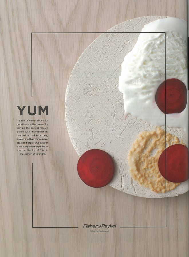 Fisher & Paykel print ad, designed by Alt Group - simple, yummy. | Via StopPress